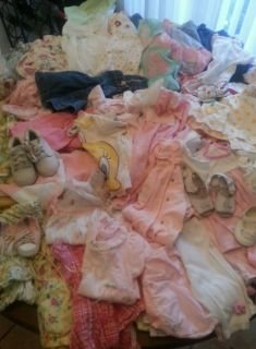 Huge Lot of Baby Girl's Clothes 0 3 3 6 6 9 12 18 Months Over 100 Pieces
