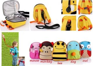Anti Loss Bag Baby Toddler Kids Boys Girls Unisex Backpack Animal School Bag