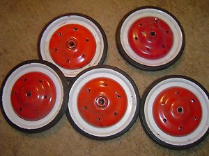 Set of 5 Pedal Car Wheels Tires Murray AMF Steelcraft Gendron