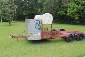18' Race Car Trailer Front Storage Tire Rack Good Condition