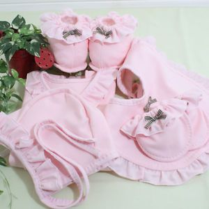 New DIY Pink Best Item Gift Set Lots Clothes for Infant Newborn Baby Girls Boys