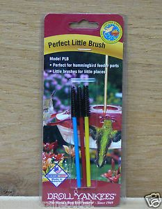 Droll Yankees 3 Brushes Perfect Little Brush Clean Hummingbird Feeder Ports PLB