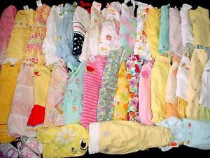 53pcs Gymboree Lot Used Baby Girl NB 0 3 3 6 Months Summer Clothes Free SHIP