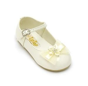 Toddler Infant Baby Girl Dress Formal Shoes Pageant Wedding Birthday Party Ivory