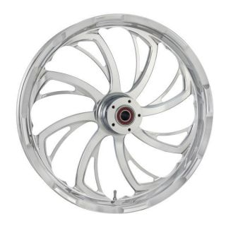 "Sweeper Chrome Custom Front 23"" Wheel Tire Package FLH FLHX FLTR Harley Touring"
