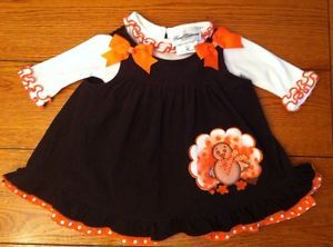 Cute Baby Girl Size 6 Months RARE Editions Fall Thanksgiving Dress Clothes Lot