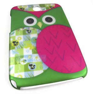 Green Patchwork Owl Hard Case Cover Samsung Galaxy Note 8 0 Tablet Accessory