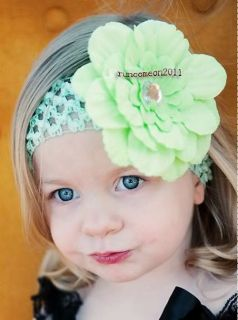 12pcs Peony Lot Wholesale Girl Toddler Baby Flower Hair Clip Bow Headband Hat