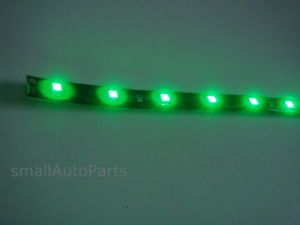 "12"" Super Green 1210 SMD Flexible LED Light Strip for Motorcycle Chopper Scooter"