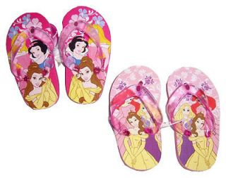 Disney Princesses Kids Girls Thong Flip Flops Beach Sandals 2 Pair New