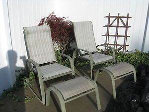 11 Piece Outdoor Patio Furniture Glass Top Table 6 Reclining Chairs More