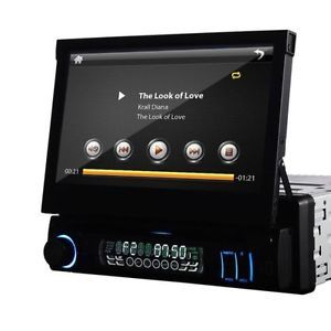 7'' 1 DIN Car Stereo DVD CD  TV Radio iPod Player Detachable Touch Screen US