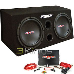 "New XBX 1200B 12"" 1200W Car Subwoofers Subs Amplifier Amp Kit Sub Box XBX1200"