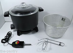 Dazey 6qt Chef's Pot Electric Fryer Cooker Steamer Slow Cooker DCP 6 Clean