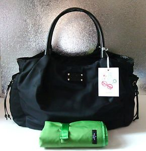 Kate Spade Nylon Stevie Baby Diaper Bag Purse Black