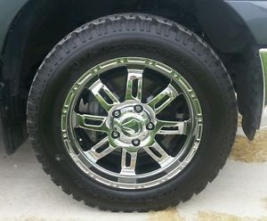 "20"" Toyota Tundra Chrome Wheels and Tires"