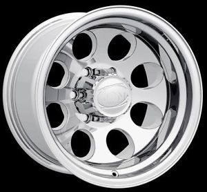 "17x9"" ion 171 Polished Wheels Rims 6x5 5 6 Lug Chevy GMC 1500 Toyota Truck"