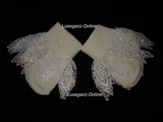 1 Pair of Baby Girl Frilly Cotton Lace Ankle Sock Christening Party Free Postage