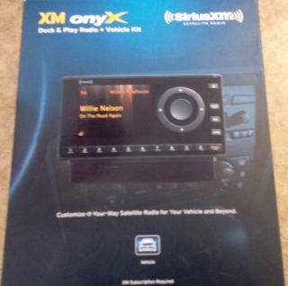 Sirius XM Satellite Radio Dock Play Radio Vehicle Kit Model XDNX1V1