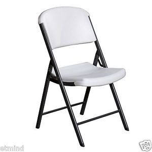Lifetime Commercial Grade Heavy Duty Folding Chair White Outoor Indoor