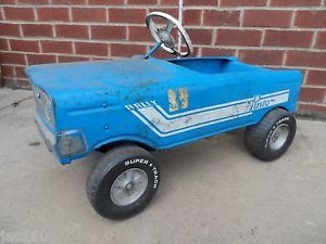 Old Vintage 1960s Pedal Car Pinto All Original Tires Seat Tires Horse Works