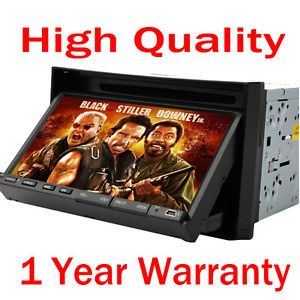 "2 DIN 7"" Car DVD CD  4 Player SWC Am FM Receiver Touch Screen"