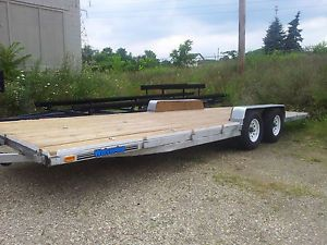 "24' x 8' Bed Big 7K Axles Utility Cargo ATV Car Hauler Trailer 2012 16"" Tires"