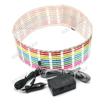 Car Sticker Music Rhythm LED Flash Light Lamp Sound Activated Equalizer 90x10cm