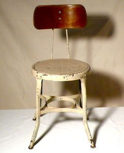 Vintage Industrial Uhl Toledo Stool Drafting Desk Chair Machine Age