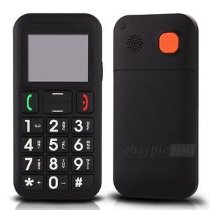Senior Elderly Easy Simple SOS Big Button Mobile Cell Phone Black Quad Band