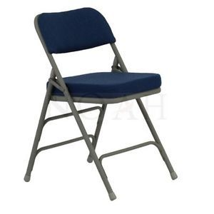 Hercules Fabric Padded Metal Folding Chair Navy 20 Pack
