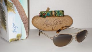 New Maui Jim Baby Beach Sunglasses Gold HCL Bronze HS245 16