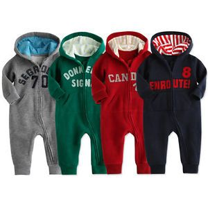 "New Vaenait Newborn Baby Girl's Fleece Jumpsuit Onepiece "" Hoodie Good Colour"""