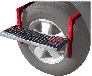 New Portable Foldable Auto Wheel Ladder Step Car SUV Truck Tire Platform PWS