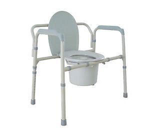 Heavy Duty Bariatric Folding Bedside Commode Toilet Potty Chair 650 lb 11117N 1