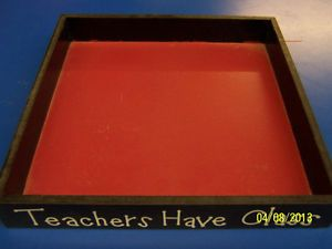 Teachers Have Class Back to School Teacher Gift Decorative Wooden Desk Tray Box