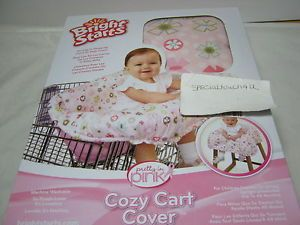 New Bright Starts Cozy Carts Seat or High Chairs Cover Pink Up to 48 Months