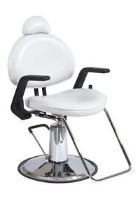 White Modern Fashion All Purpose Hydraulic Recline Barber Chair Shampoo 87W