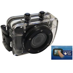 "HD Mini Sports Camera DVR DV 2"" Touch Digital Helmet Camera Video Cam Waterproof"