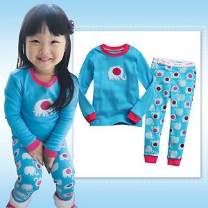 "Vaenait Toddler Girl Kid Boy Long Sleepwear Pyjama Set "" Mini Elephant """