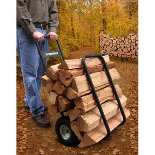 'Log Caddy Cart Wheeled Wood Burner Firewood Fireplace Dolly Utility Hand Truck