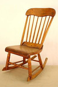 Antique Circa Early 1800's Rocking Chair