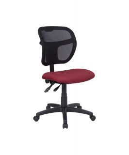 Flash Furniture Mid Back Mesh Task Chair with Burgundy Fabric Seat