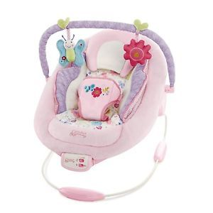 Bright Starts Comfort Harmony Penelope Petal Pink Butterfly Bouncer Bounce Chair