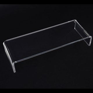 "New 21"" Clear Acrylic Laptop Computer Monitor Display Table Riser Stand Desk"