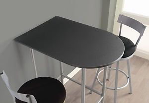 New Space Saver Bar Table Dining Home Furniture Patio Stool Kitchen Decor Coffee