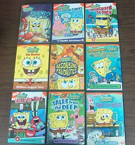 Lot of 9 Spongebob Squarepants DVD Nickelodeon Nick with Cases