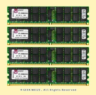 Server RAM 16GB 4X 4GB PC2 5300P ECC Reg DDR2 667 PC5300 Memory Fits Dell HP IBM