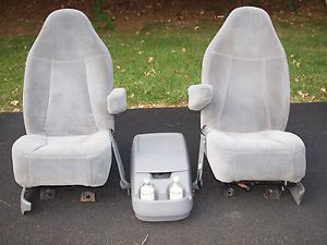1993 Ford F150 Bronco Bucket Seats Captains Chairs Center Console