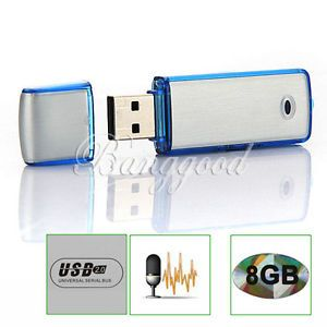 USB Spy 8GB Flash Drive Digital Audio Voice Recorders Pen with Recording 150 Hrs